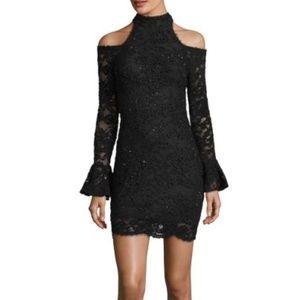 NWT Jovani Cold-Shoulder Lace Dress